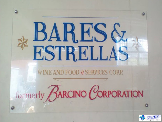 Clear Acrylic Logo Panel Signage - Bares & Estrellas