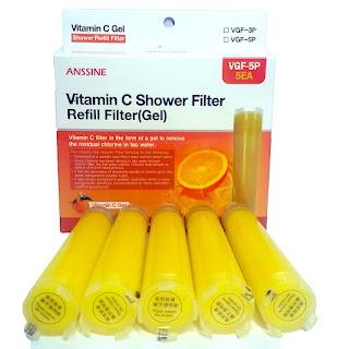 Vitamin gel fresh shower Tap water chlorine removal Long lasting refill shower filter cartridge New 5P