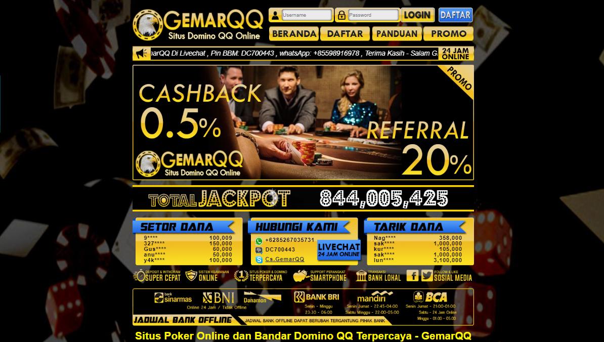 GemarQQ Situs Domino Kiu Kiu Online Terpercaya