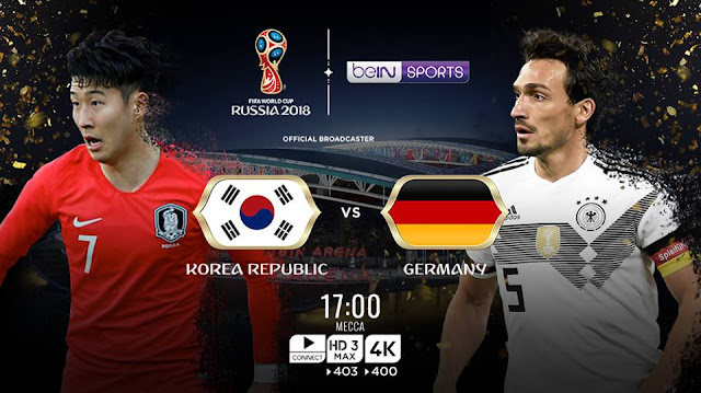 SOUTH KOREA VS GERMANY LIVE STREAM WORLD CUP 27 JUNE 2018