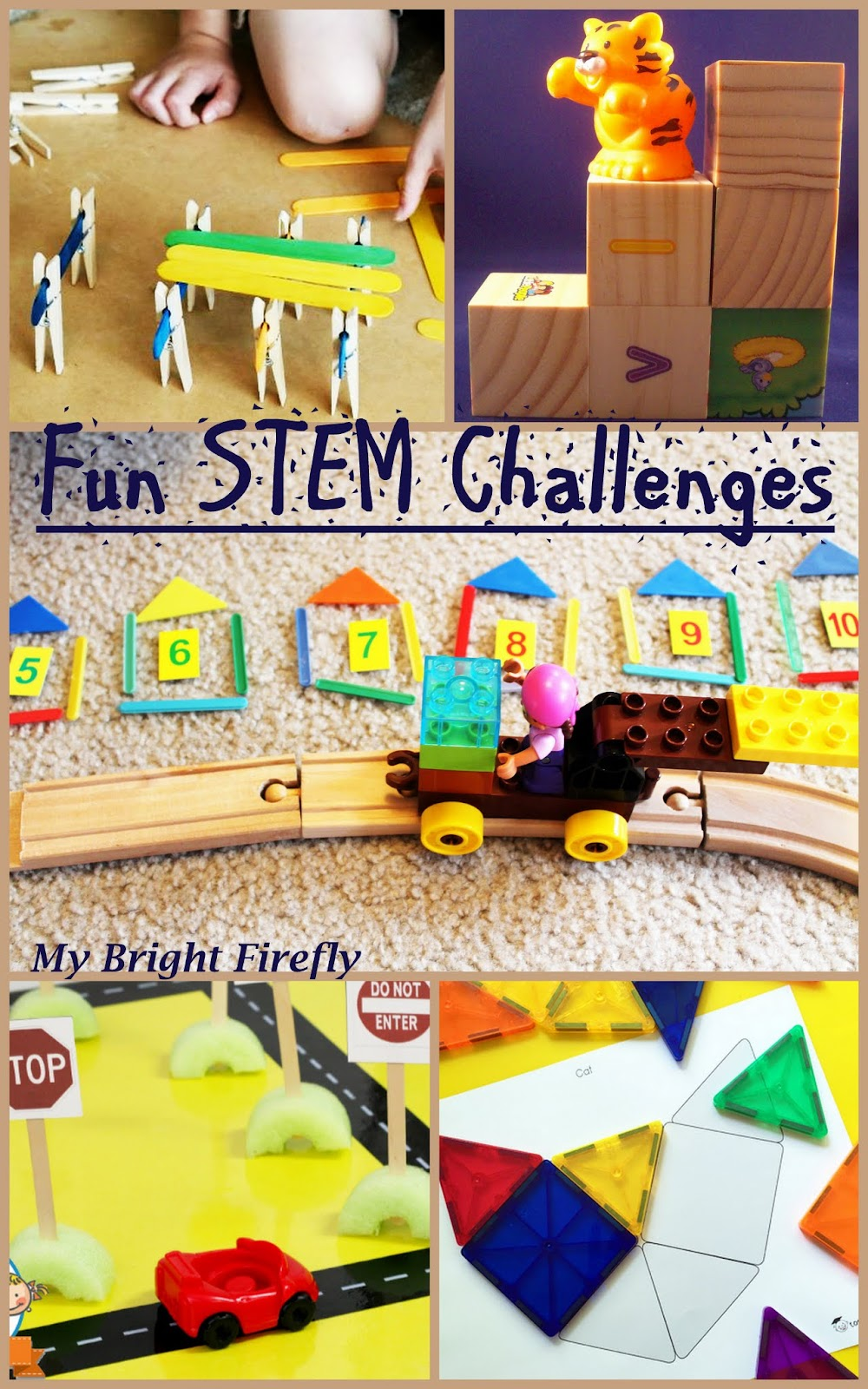 My Bright Firefly Fun Stem Challenges In The Block Center For