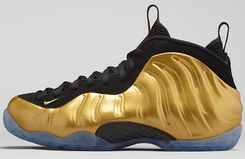 5325ae245dd2b THE SNEAKER ADDICT  Nike Air Foamposite One Gold Sneaker Available ...