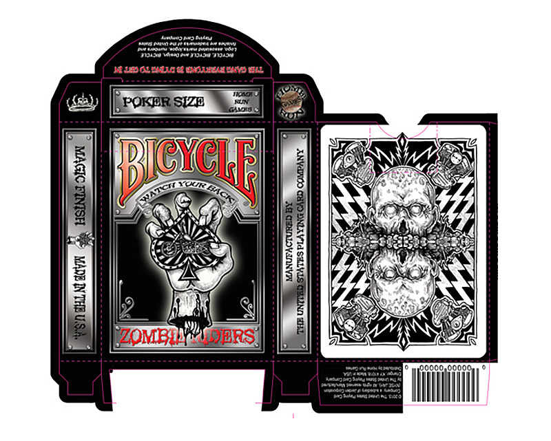 Zombies Motorcycles And Poker Zombie Riders Playing Cards By Gavin Rooney If Its Hip Here