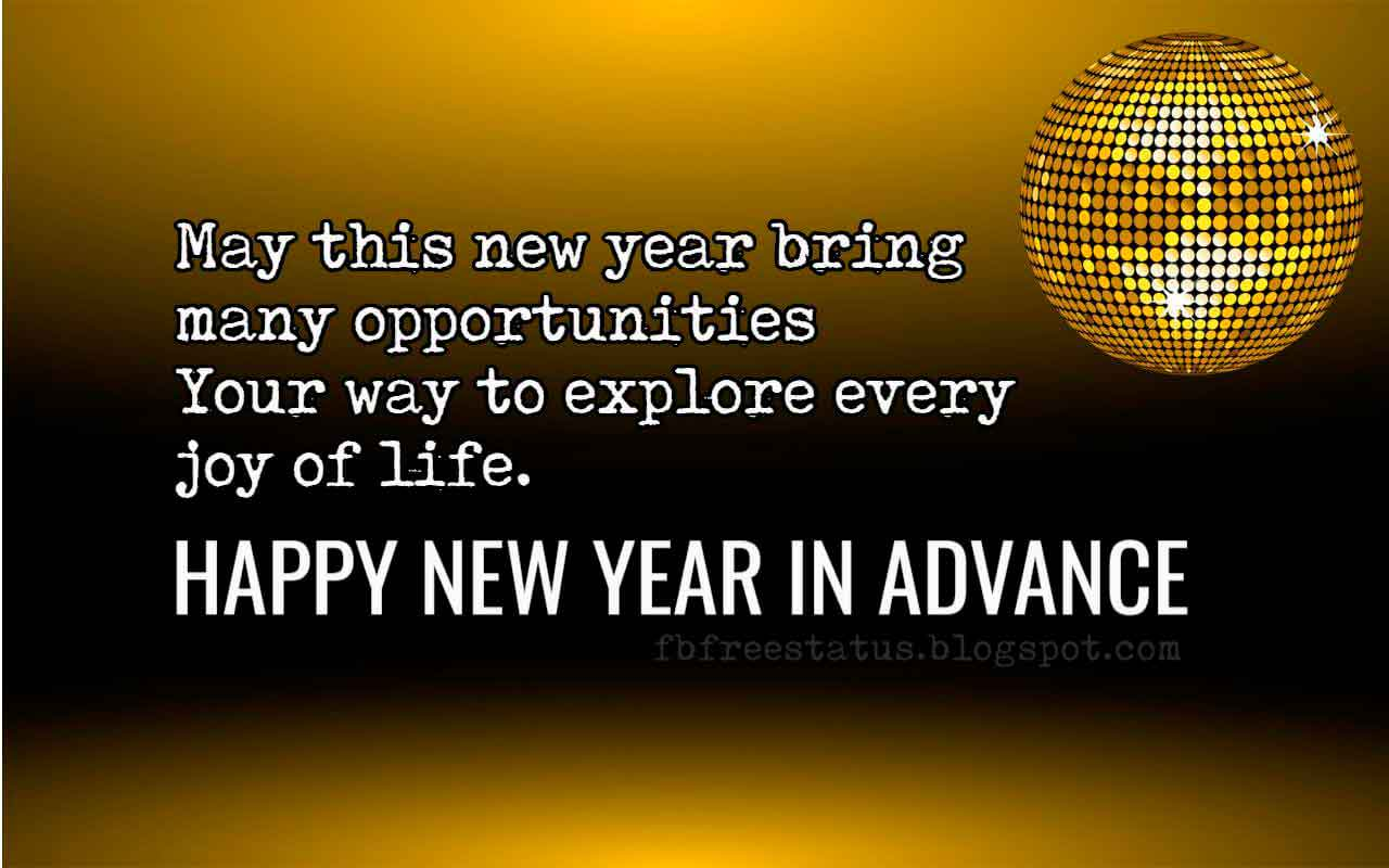 Advance Happy New Year Images, Wishes and Quotes