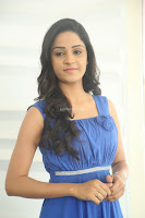 Divya Nandini stunning Beauty in blue Dress at Trendz Exhibition Launch ~  Celebrities Galleries 039.JPG