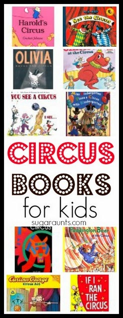 Circus books for a circus theme camp or VBS for kids