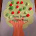 Fall Crafts - Pom Pom Apple Tree