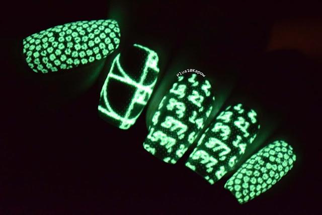 Espionage Cosmetics Fibonacci maths nerdy nails glow in the dark