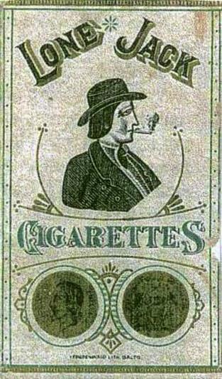 Первая американская сигаретная пачка. 1880