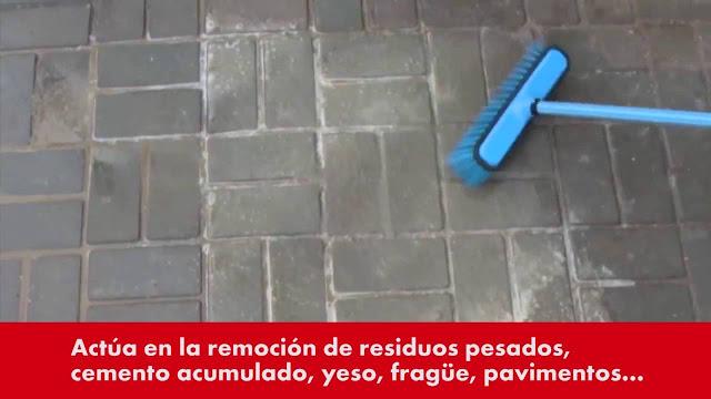 removedor de cemento para limpiar pisos manchados de cemento