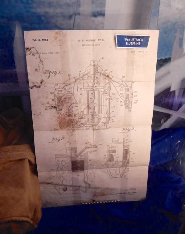 Tomorrowland 1964 jetpack blueprint prop
