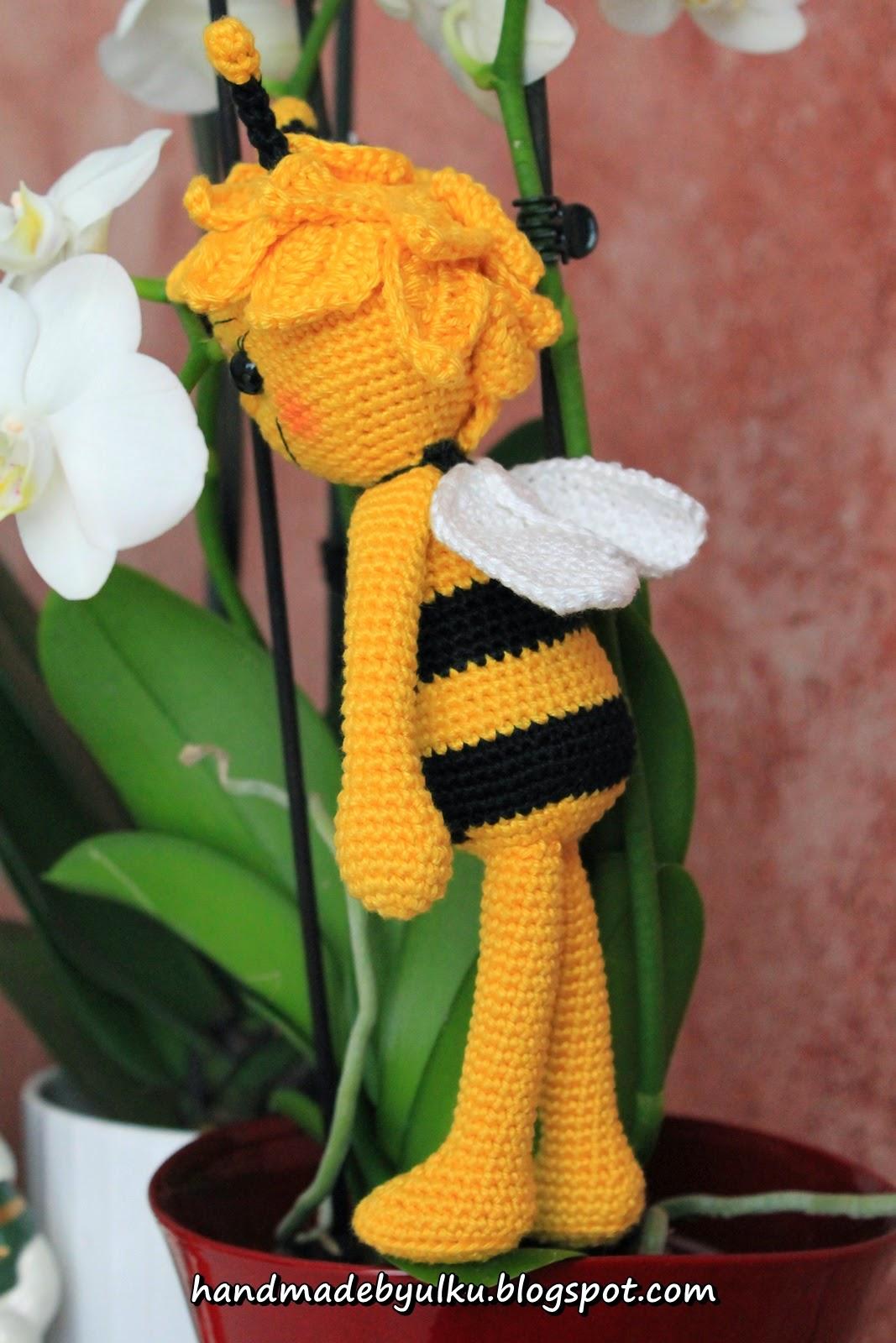 Handmade By ülkü Amigurumi Biene Maja Maya Bee Ari Maya