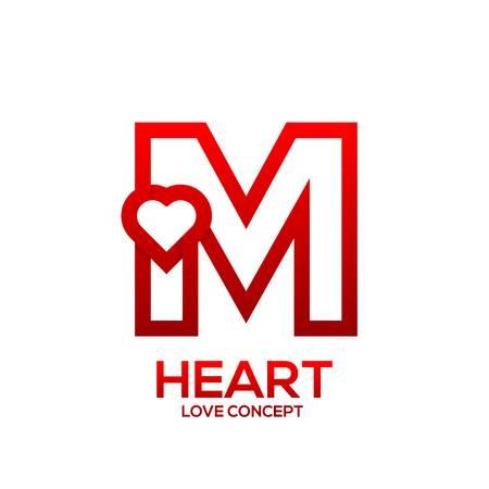 صور قلوب على شكل حرف m