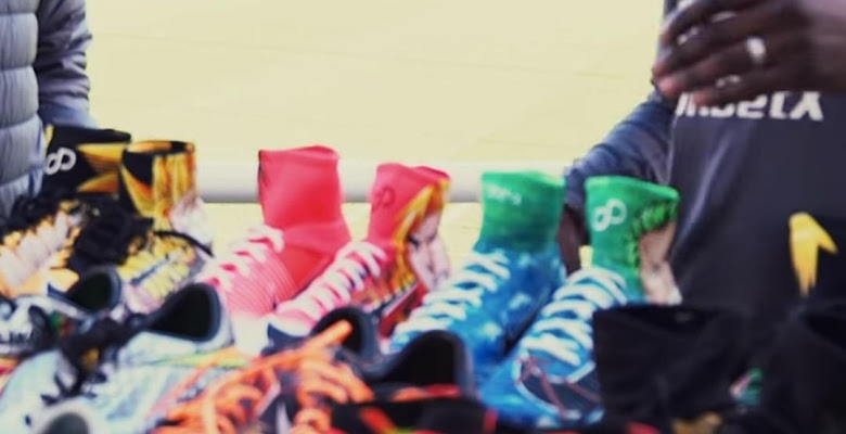 d89b163e46a Premier League Star Bakary Sako Shows Off His Insane Custom Boot Collection