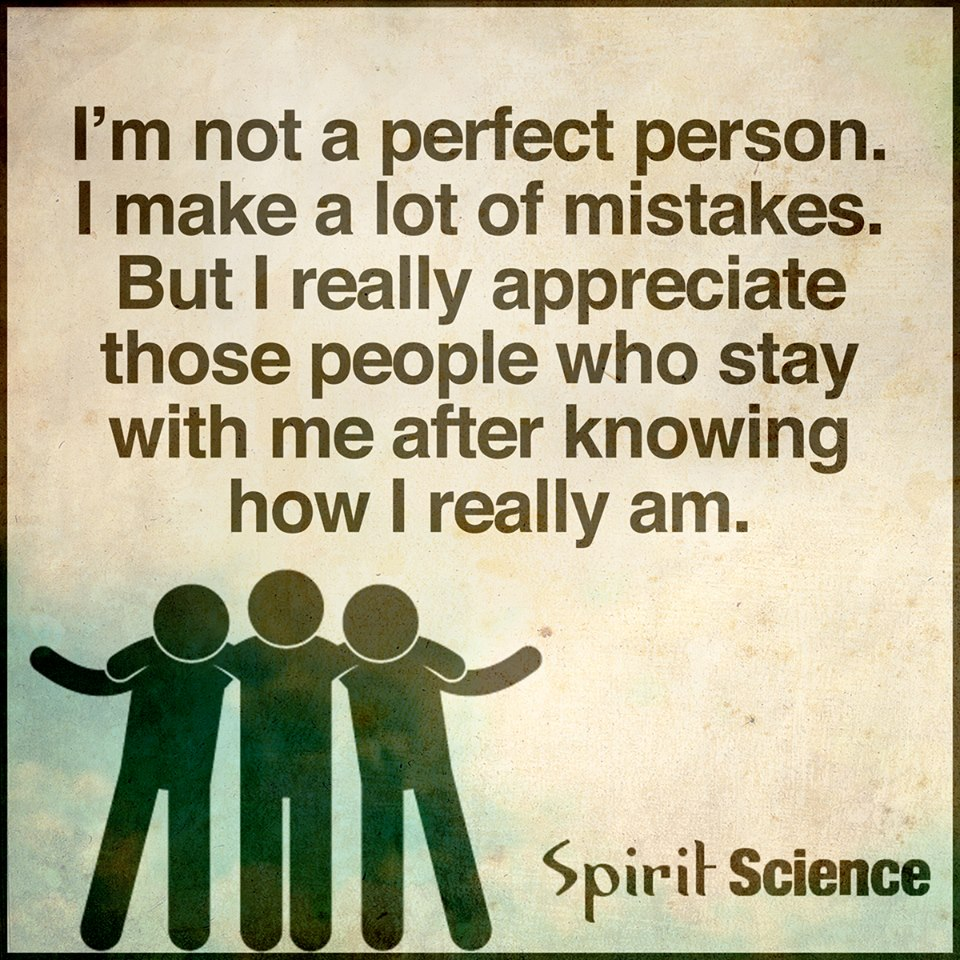 I Am Not A Perfect Person. I Make Mistakes. But I Really