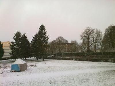 Janela de Beaulieu, Rennes, França - Fevereiro - Inverno