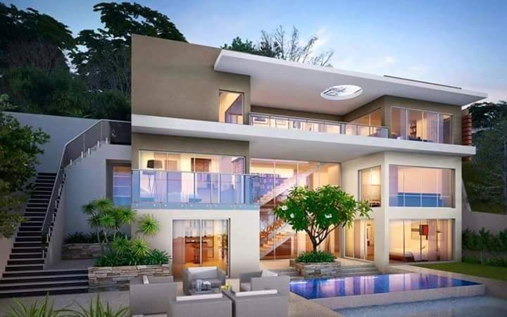 30 Desain Rumah Gaya Mewah 2 Lantai Roemah Impian