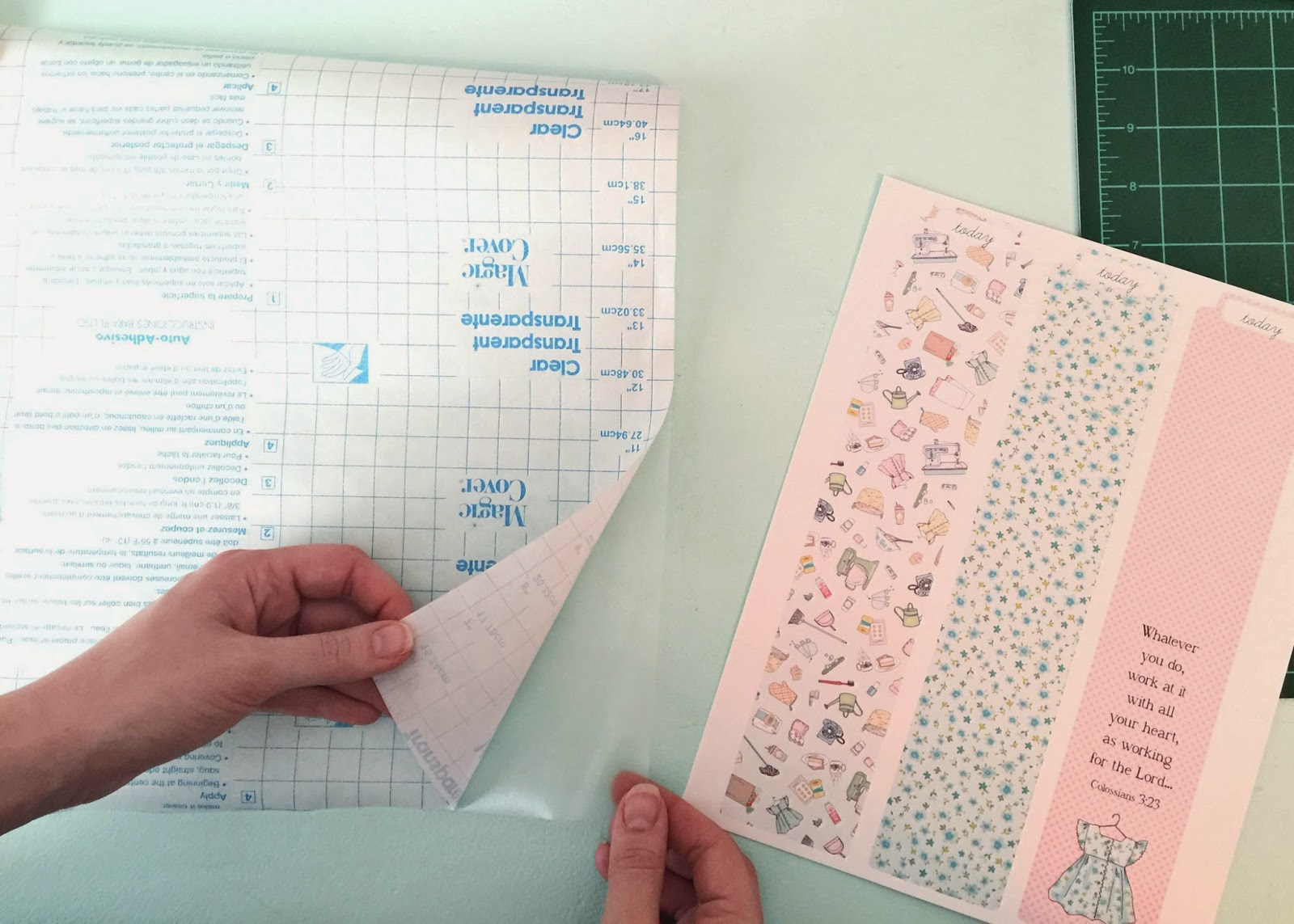 image regarding Printable Contact Paper known as amy j. delicious site: Crank out a Planner/Binder bookmark