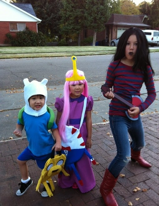 DIY Adventure Time Kids Halloween Costumes