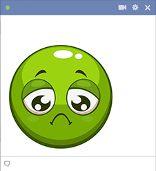 Green Frowny Emoji