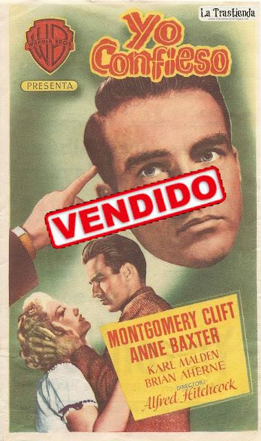 Programa de Cine - Yo Confieso - Montgomery Clift - Anne Baxter