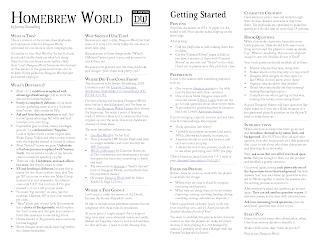 Spouting Lore: Homebrew World