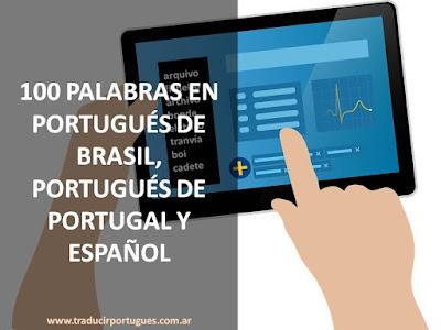 glosario, traducción, portugués Brasil, portugués Portugal, Español