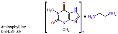 Aminofilin berdasarkan struktur kimia termasuk golongan xanthin Aminofilin