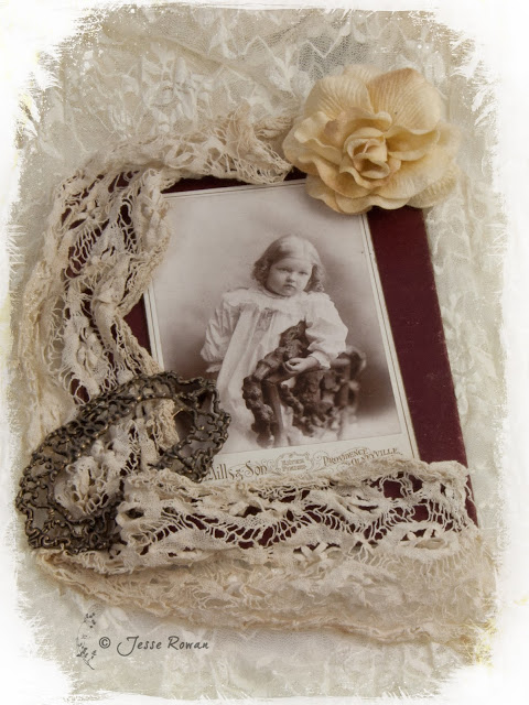 Vintage photo and lace
