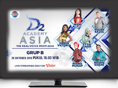 D'Academy Asia 2 ( D'AA 2) Grup B Babak 36 Besar Rabu dan Kamis 26-27 Oktober 2016