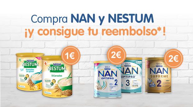 reembolso NAN y Nestum