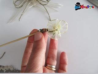 fiore in organza fai da te