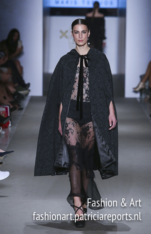 Makis Tselios - black lace and cape
