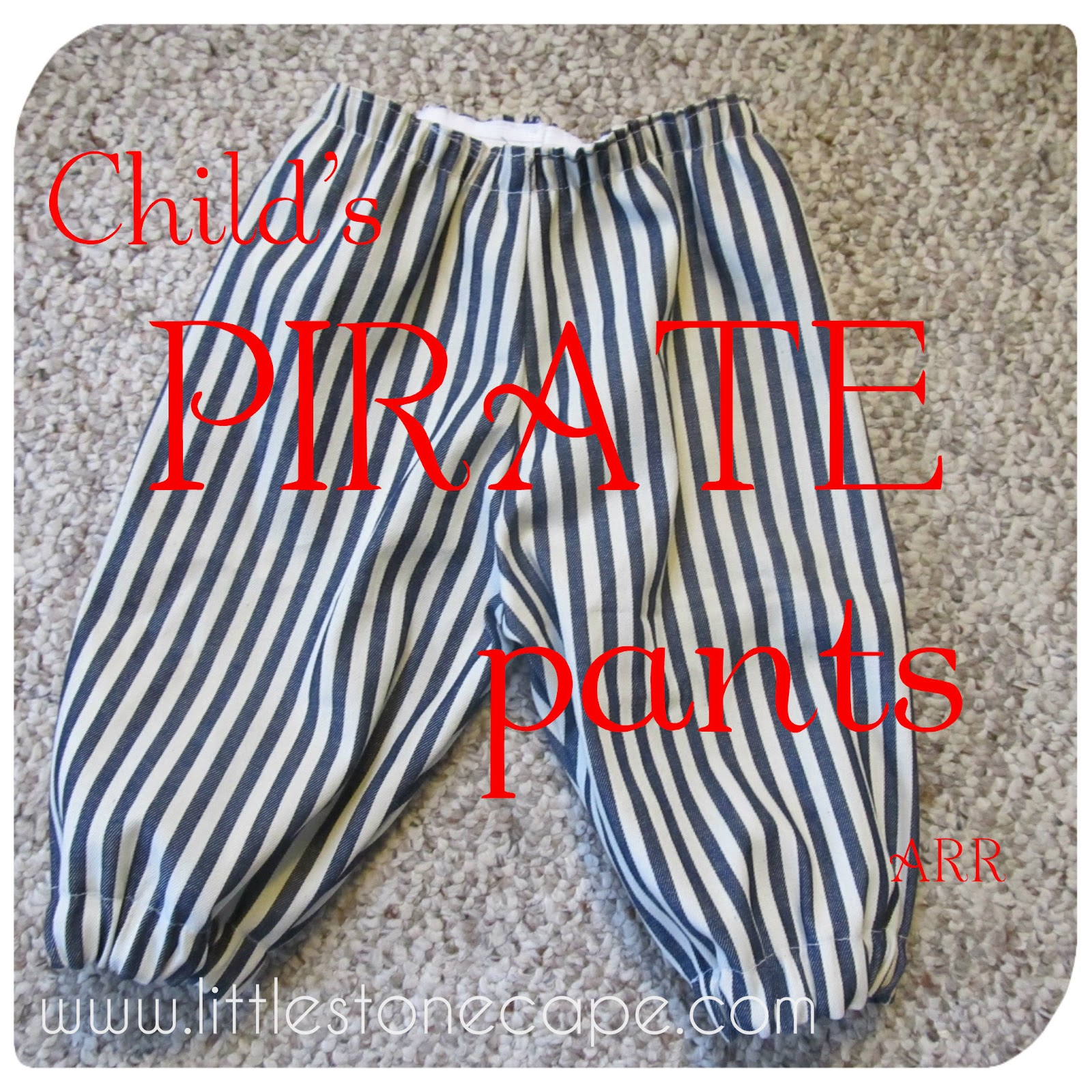 In The Little Stone Cape Child S Pirate Pants
