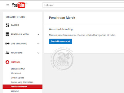 Gb.1. Cara Membuat Watermark di Video YouTube
