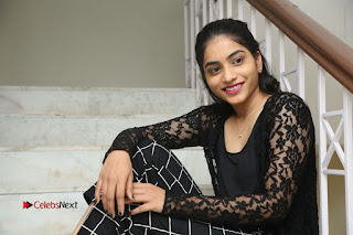 Actress Punarnavi Bhupalam Stills in Black Dress at Pittagoda Press Meet  0177.JPG