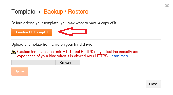 How To Backup Blogger Template?