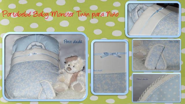 Portabebé Baby Monster Twin Petitdudu Niño
