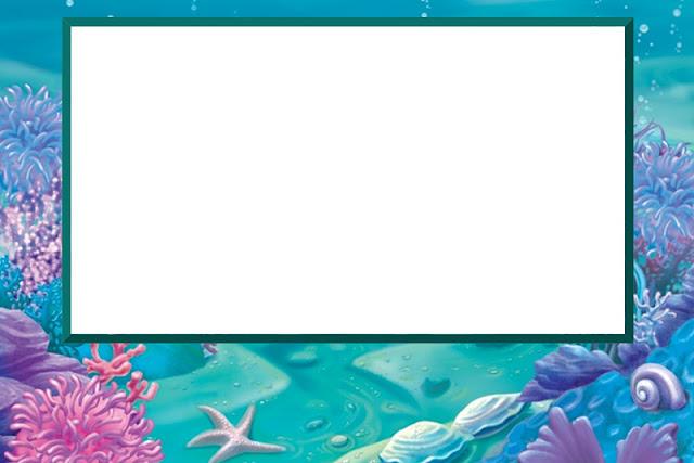 Fundo Do Mar Com Fundo Limpo Kit Completo Com Molduras Para