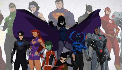 liga de la justicia vs teen titans