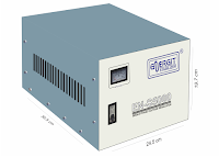 Medidas de estabilizador solido de 5000W 5 kW / 5 kVA - 220vac - Marca Energit