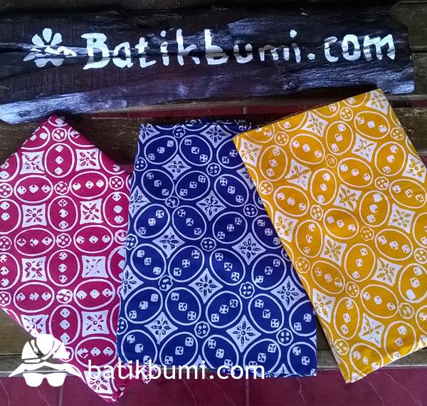 Kain Batik Cap Kelengan motif Kawung Melati