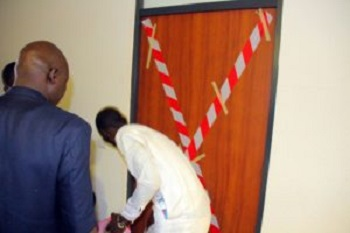 SUSPENSION: Photos of NASS Management Sealing Off Jibrin's Office