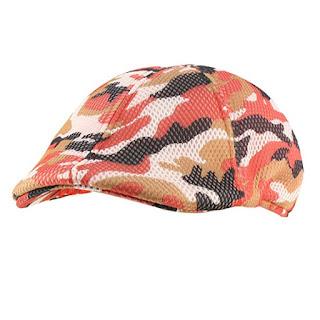 Mens Summer Mesh Camo Duckbill Flat Derby Ivy Driver Cabbie Sun Cap Hat
