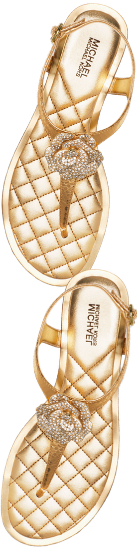 MICHAEL Michael Kors Lucia Crystal Flower Thong Sandals