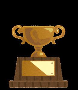 銅の優勝カップのイラスト