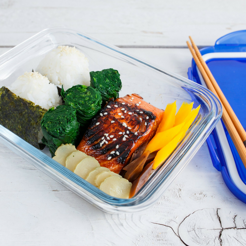 Teriyaki Salmon Bento Box
