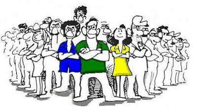 Imagen de grupo de gente en actitud reivindicativa