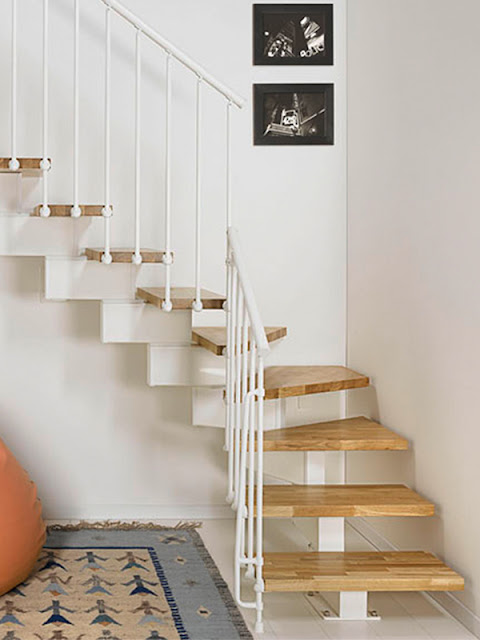 small metal staircase designs with wooden stair kits