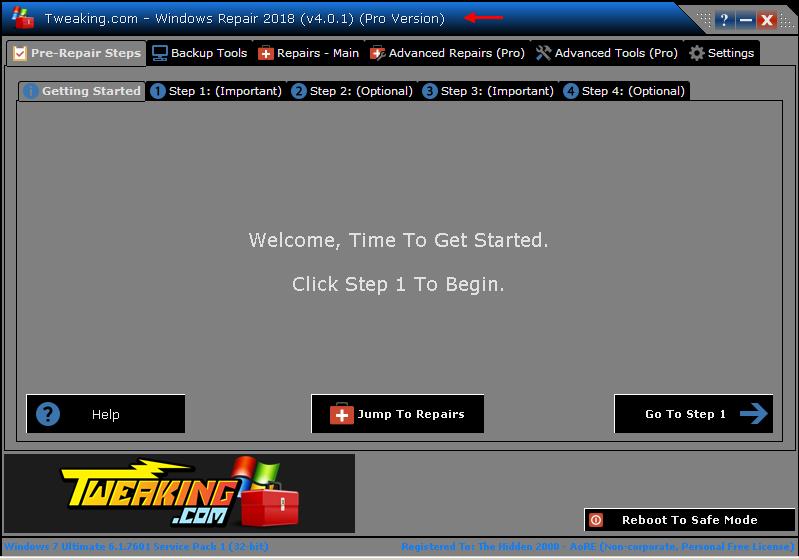 télécharger Windows Repair Pro 4.0.1 Crack